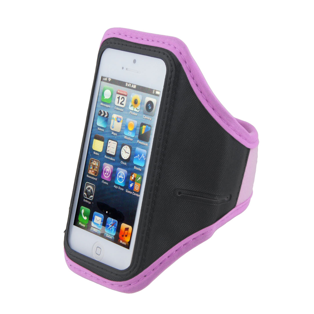 Adjustable Light Purple Running Jogging Sports Gym Armband Case Cover for Phone