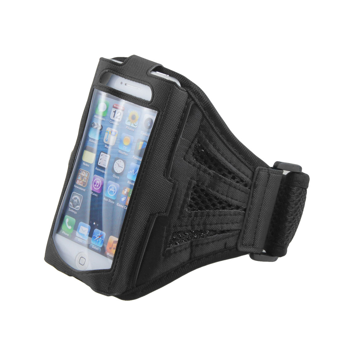 Adjustable Black Mesh Running Sports Jogging Gym Armband Case Cover for Phone
