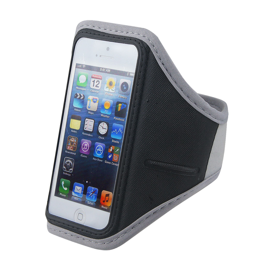 Adjustable Gray Running Exercise Gym Armband Case Cover Pouch for Phone