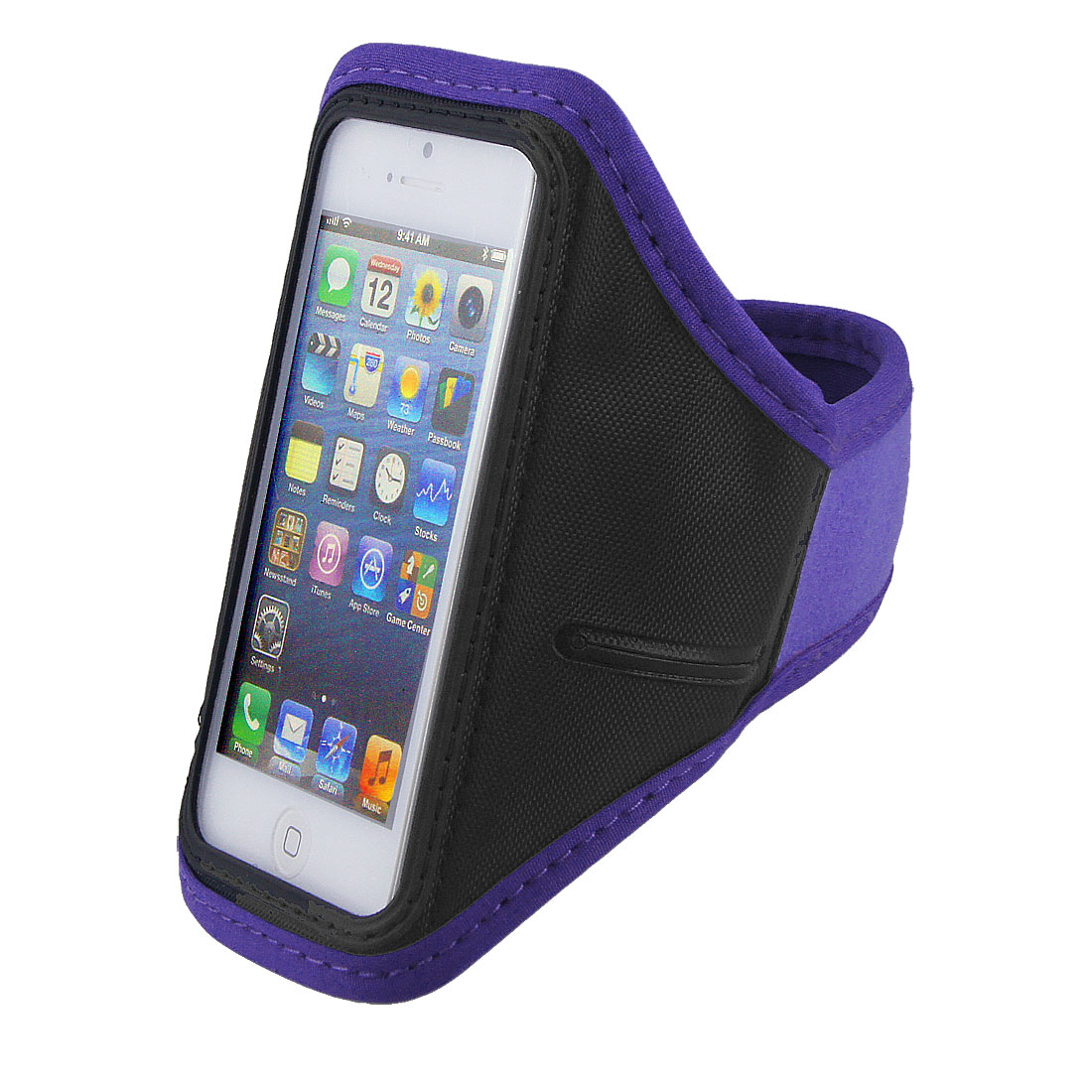 Purple Running Exercise Gym Armband Case Cover Pouch for Phone
