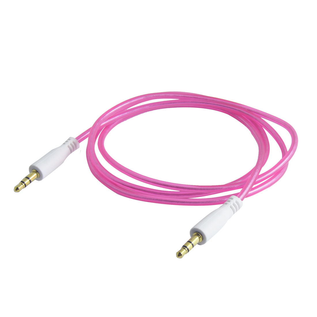 Fuchsia 3.5mm Male to Male Stereo Audio Cable Aux Cord 1M for PC Mp3