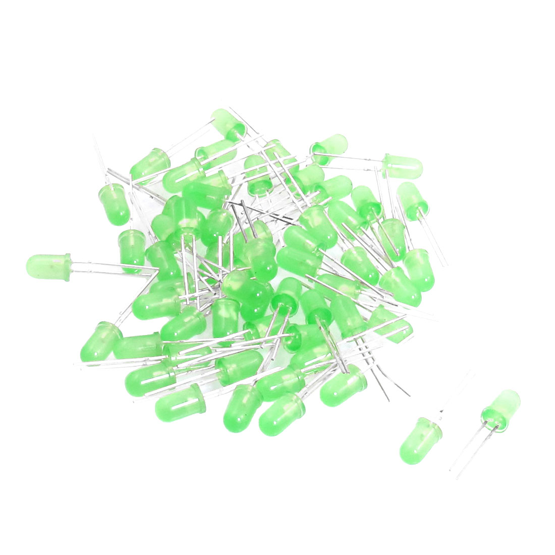 60 Pcs 3V 5mm Round Head Green LED Light Emitting Diodes
