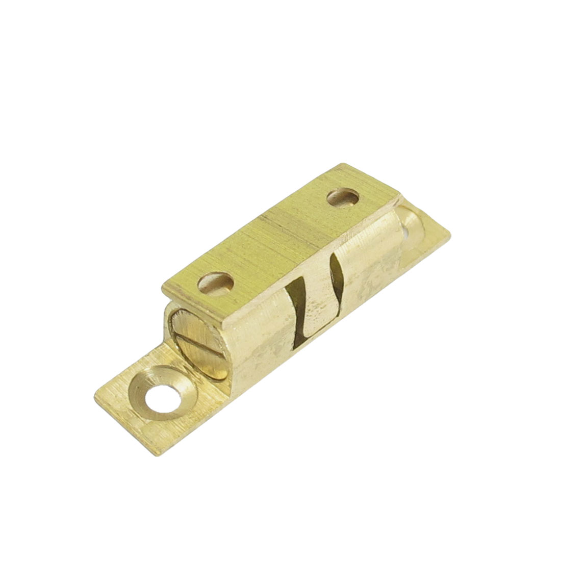 Home Door Latch Double Ball Catch 40mm Long Brass Tone