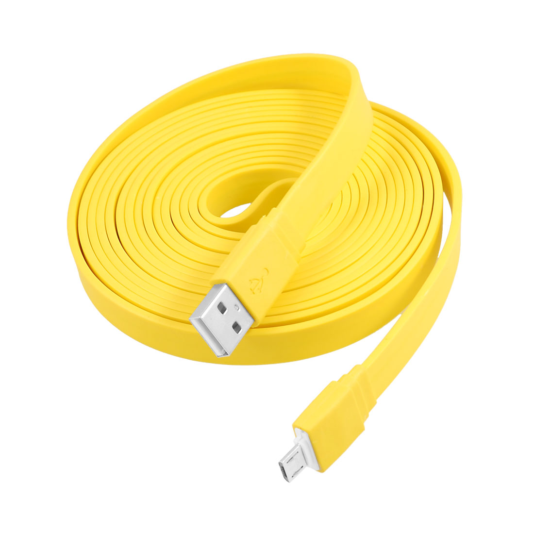 3 Meters 9.8ft USB 2.0 A to Micro 5 Pin USB Connector Cable Yellow