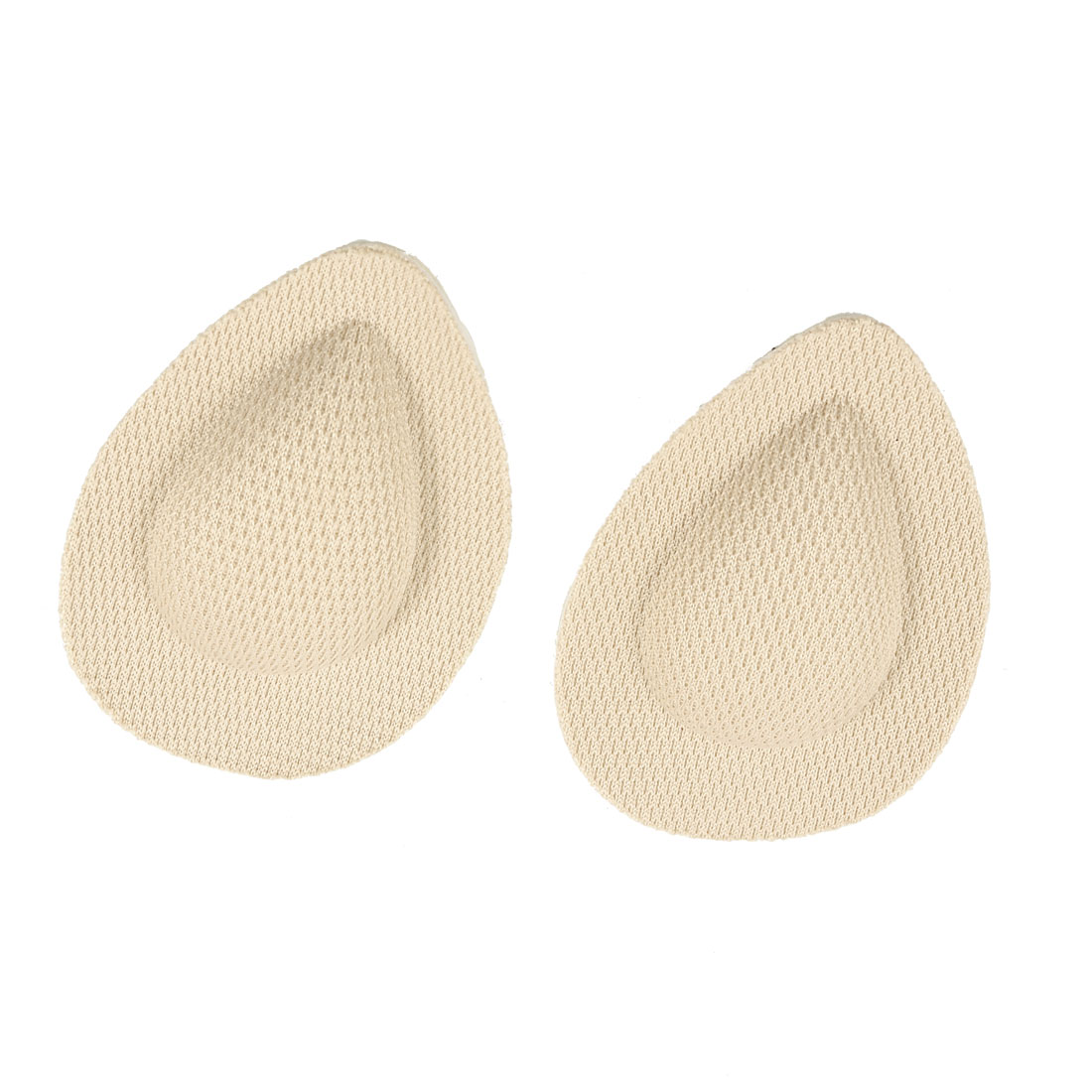 Pair Beige Fleece Disposable Adhesive Sole Pads for Lady