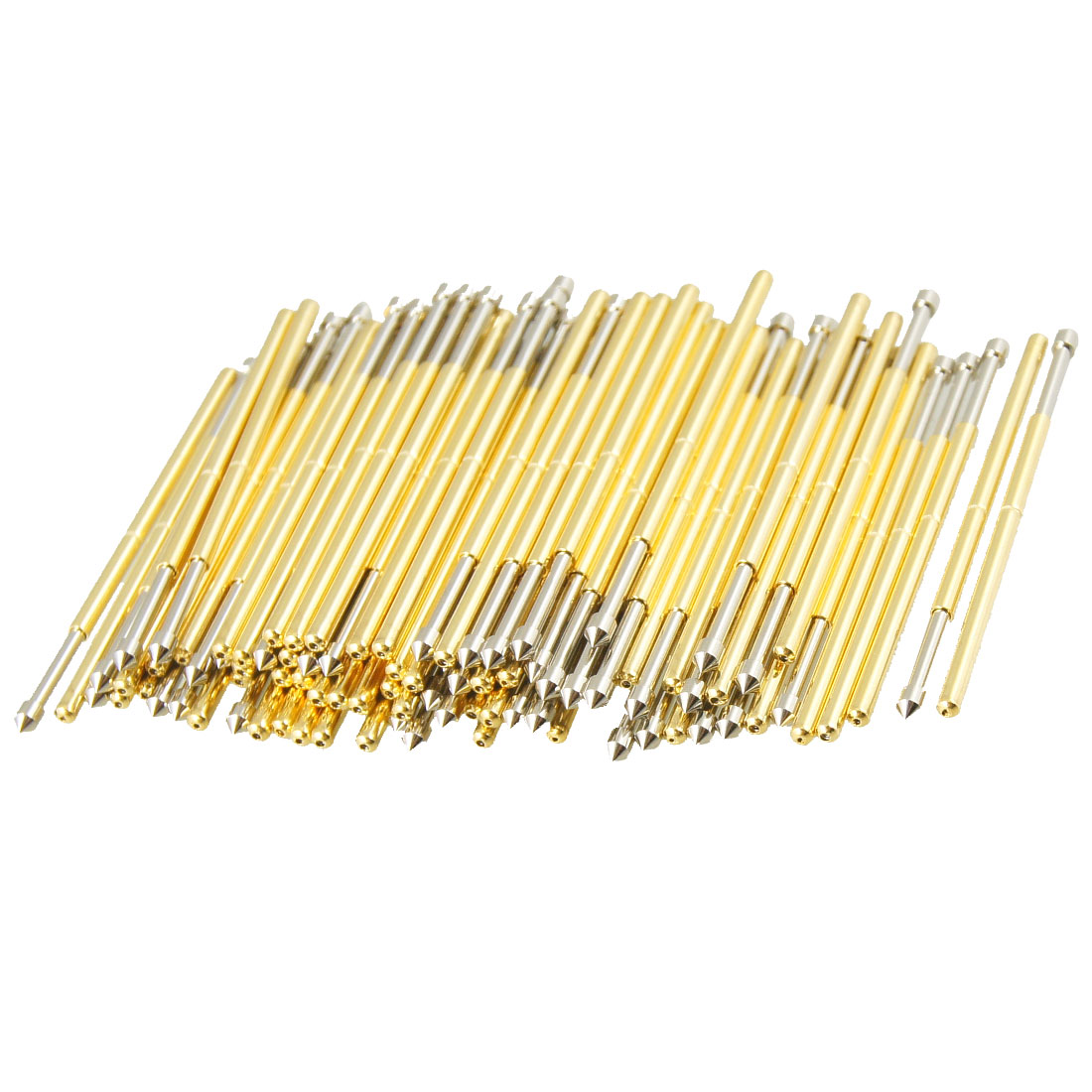 100 Pcs 9100E 1.5mm 90 Degree Convex Tip Dia Spring Test Probes Pins