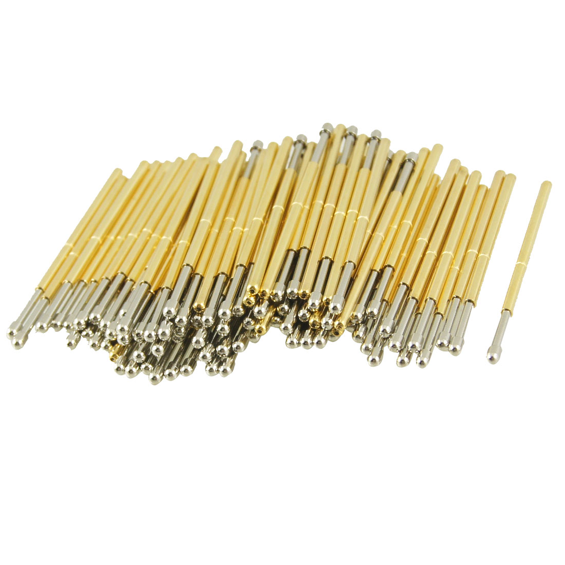 100 Pcs 9100D 1.5mm Spherical Radius Tip Dia Spring Test Probes Pins