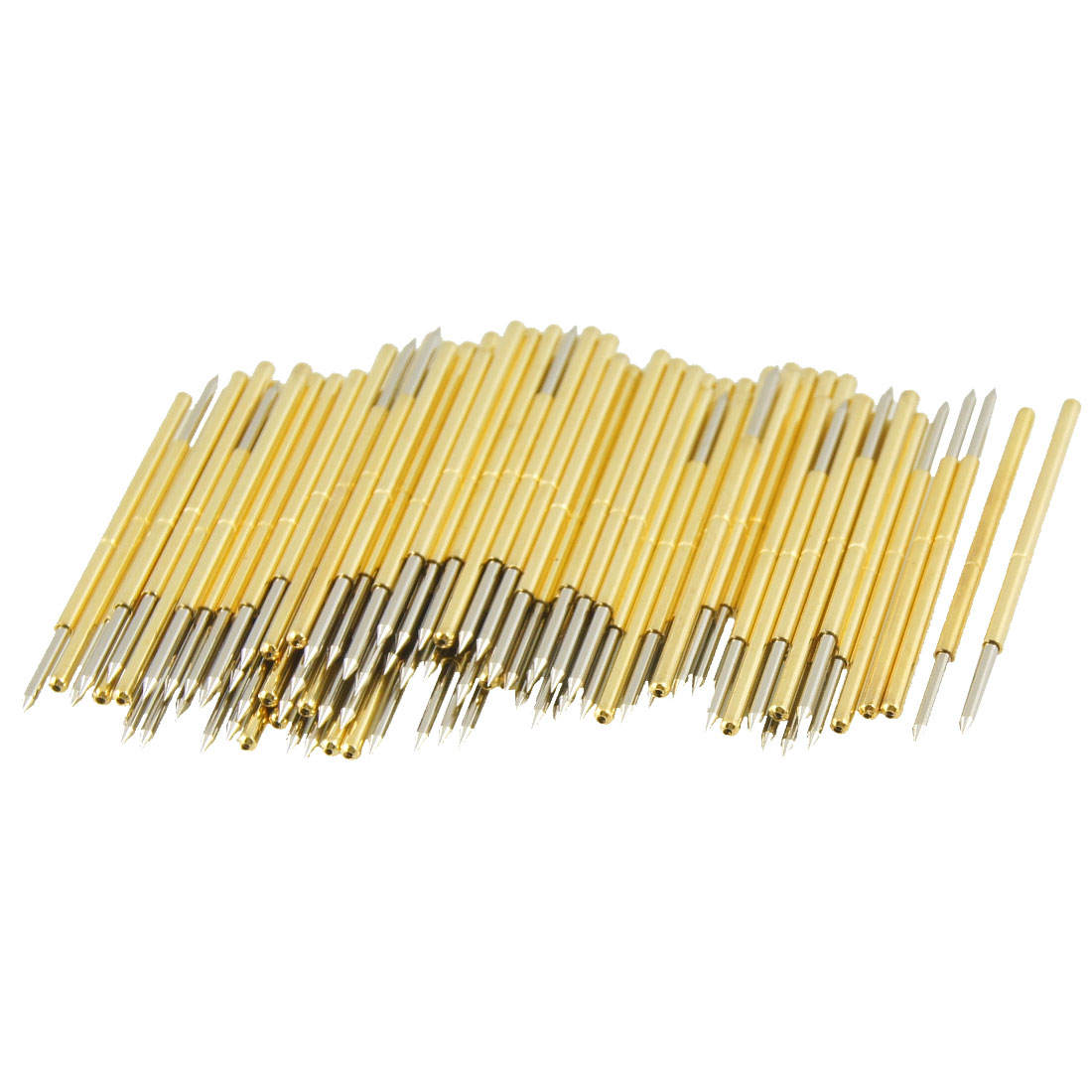 100 Pcs 9100B 1mm 30 Degree Spear Tip Dia Spring Test Probes Pins