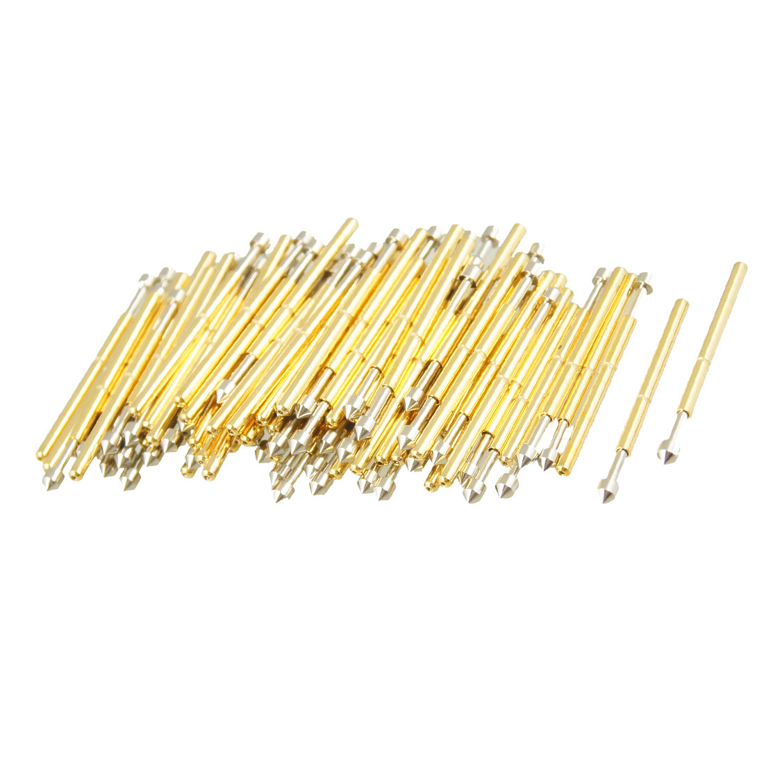 100 Pcs 975E 1.3mm 90 Degree Convex Tip Diameter Spring Test Probes Pins