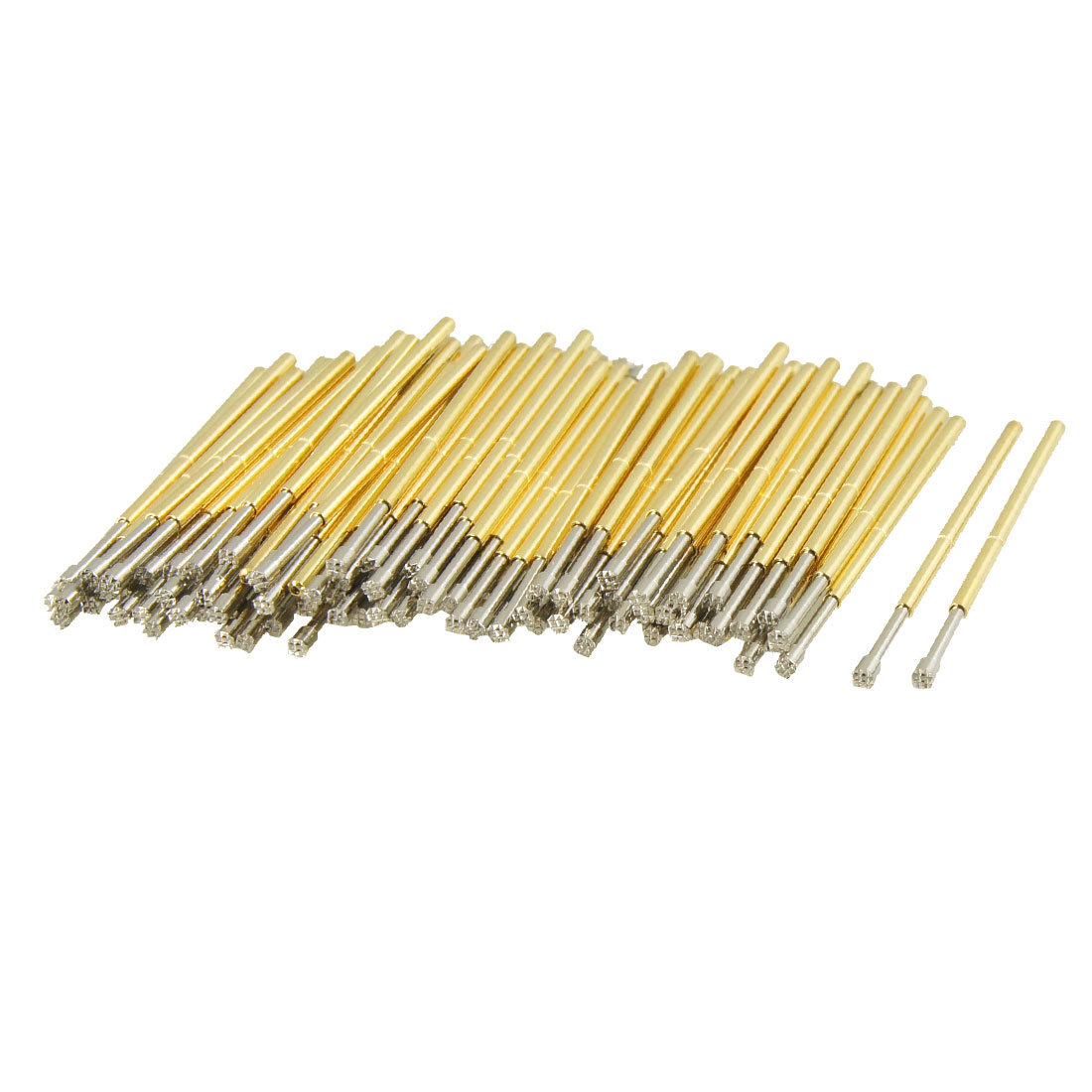 100 Pcs 9100H 1.5mm Serrated Tip Diameter Spring Test Probes Pins