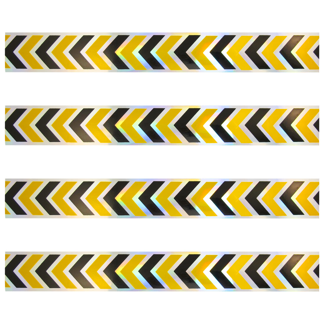 4 x Car Decoration Yellow Black Arrows Print Stickers