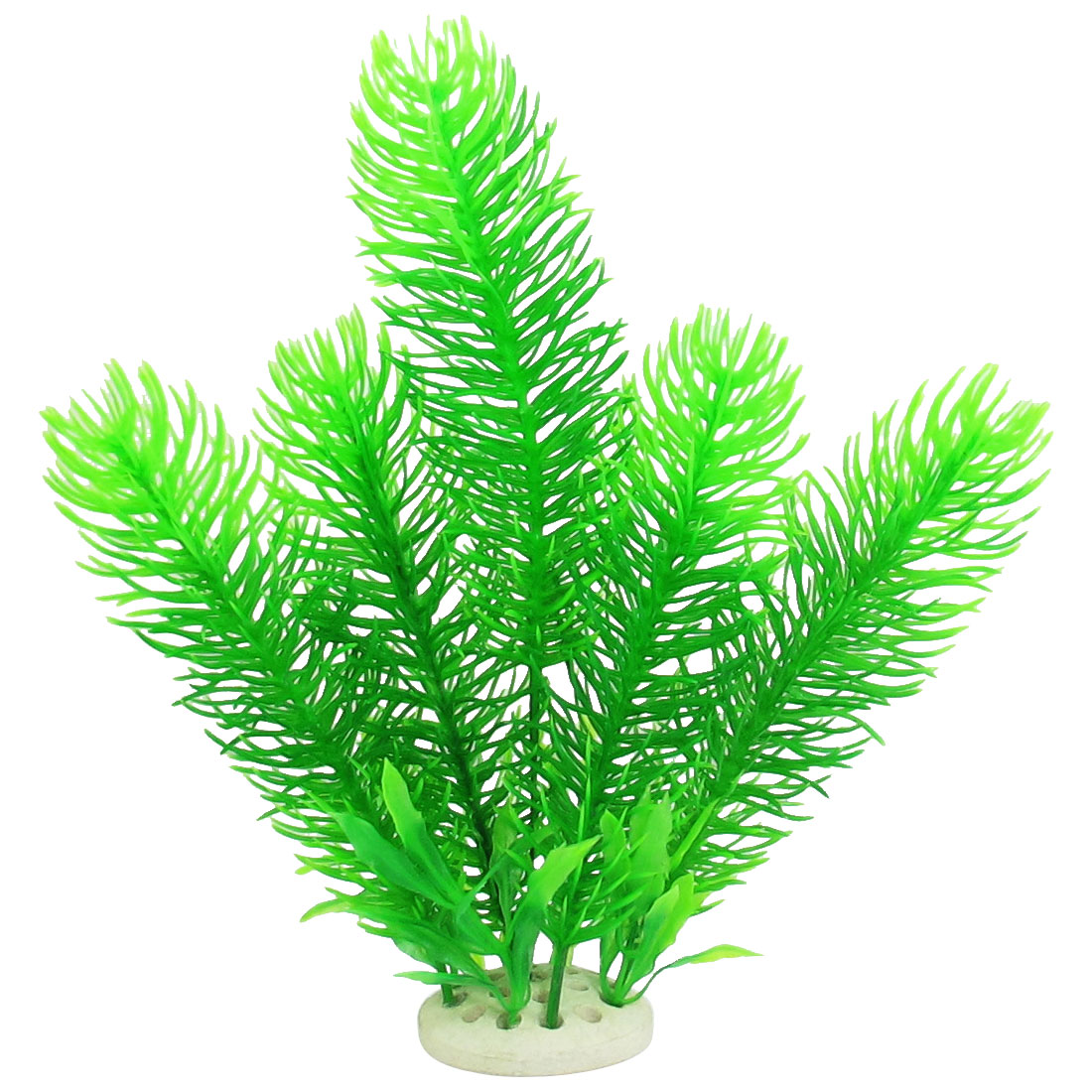 "9.4"" x 7.9"" Green Plastic Plant Fish Tank Landscape Decoration"