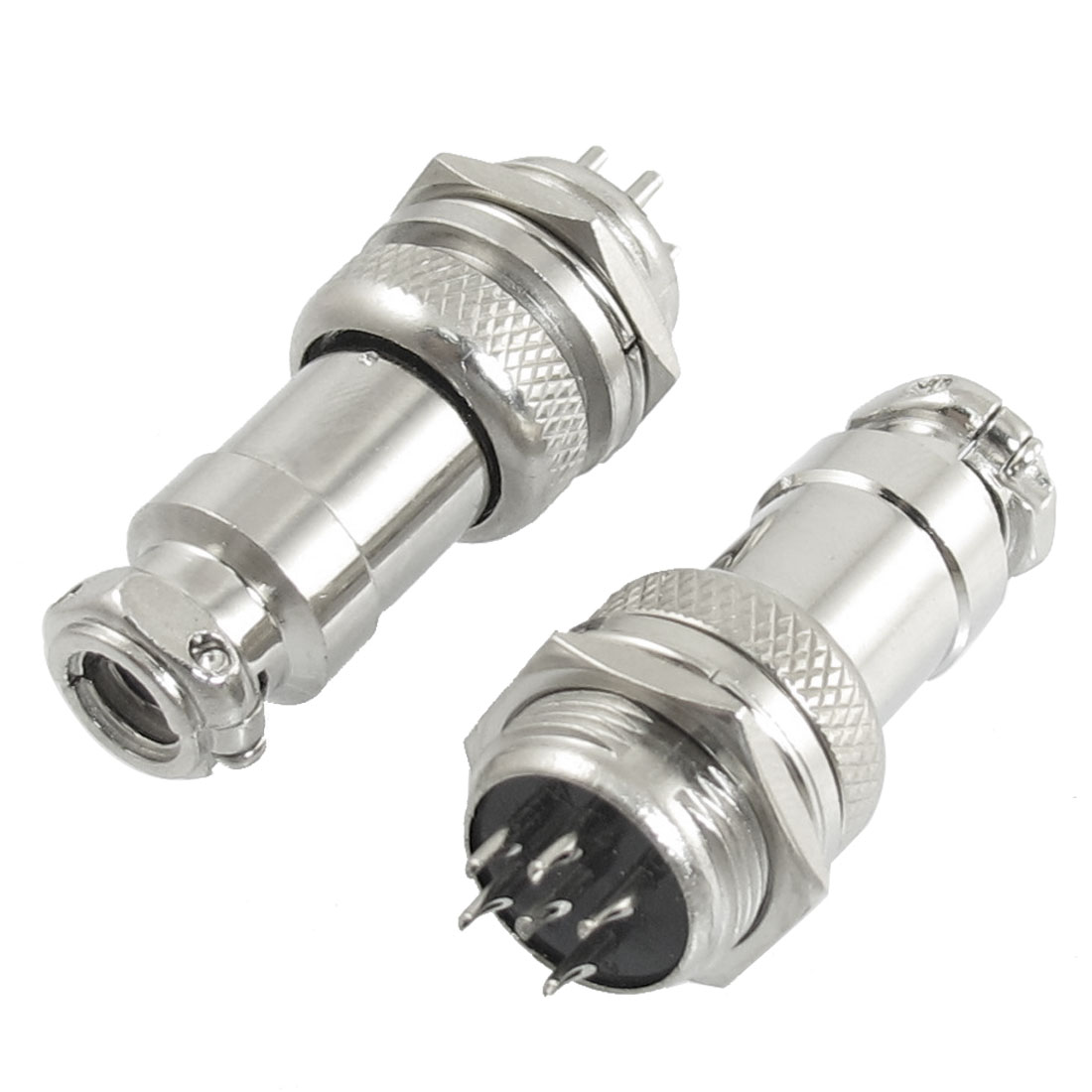 AC 200V 5A 1000V 6-Pin 6 Pin Screw Aviation Connector Joint 2Pcs