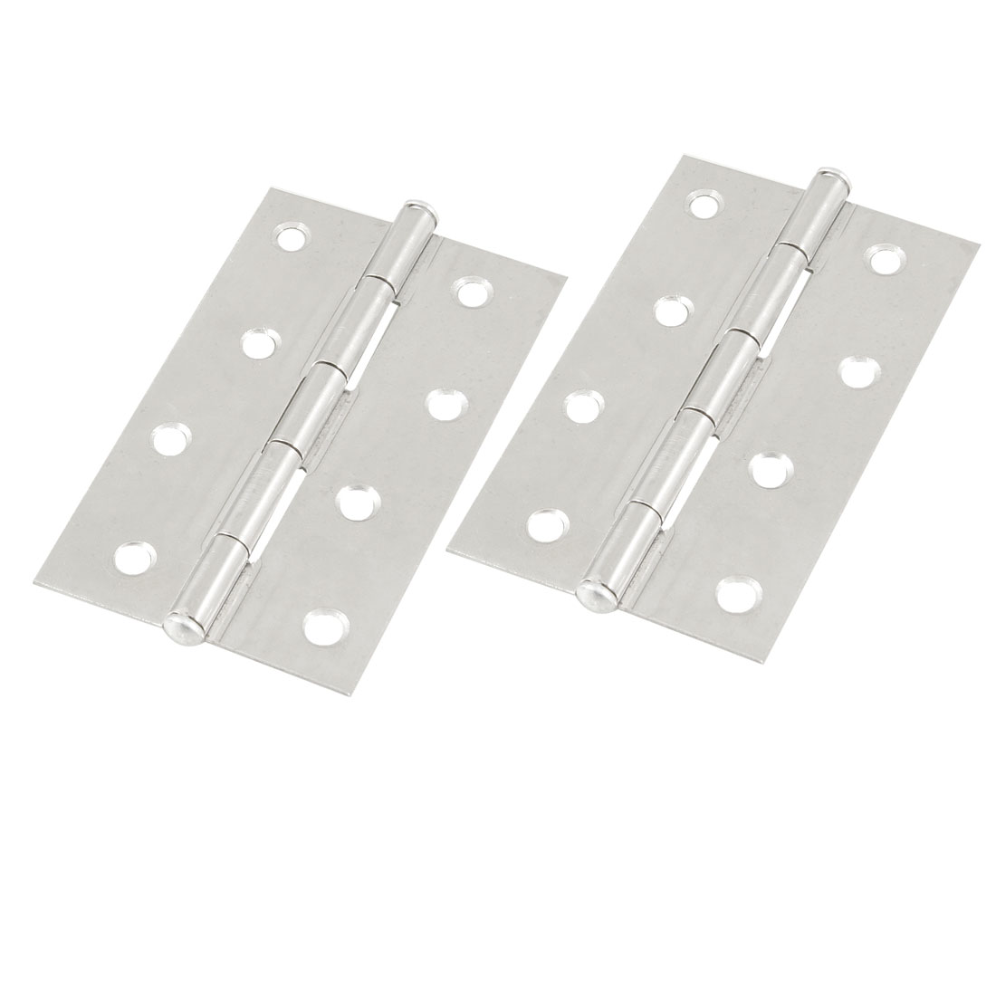 "2 Pcs Cabinet Drawer Door Stainless Steel Butt Hinges 3.4"" Long"
