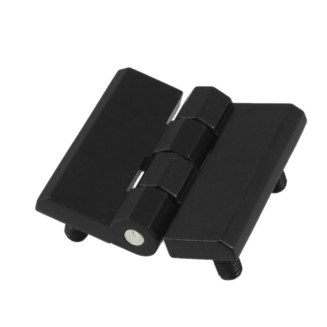 40mm x 40mm 5mm Thread Diameter Alloy Hidden Concealed Cabinet Door Hinge Black