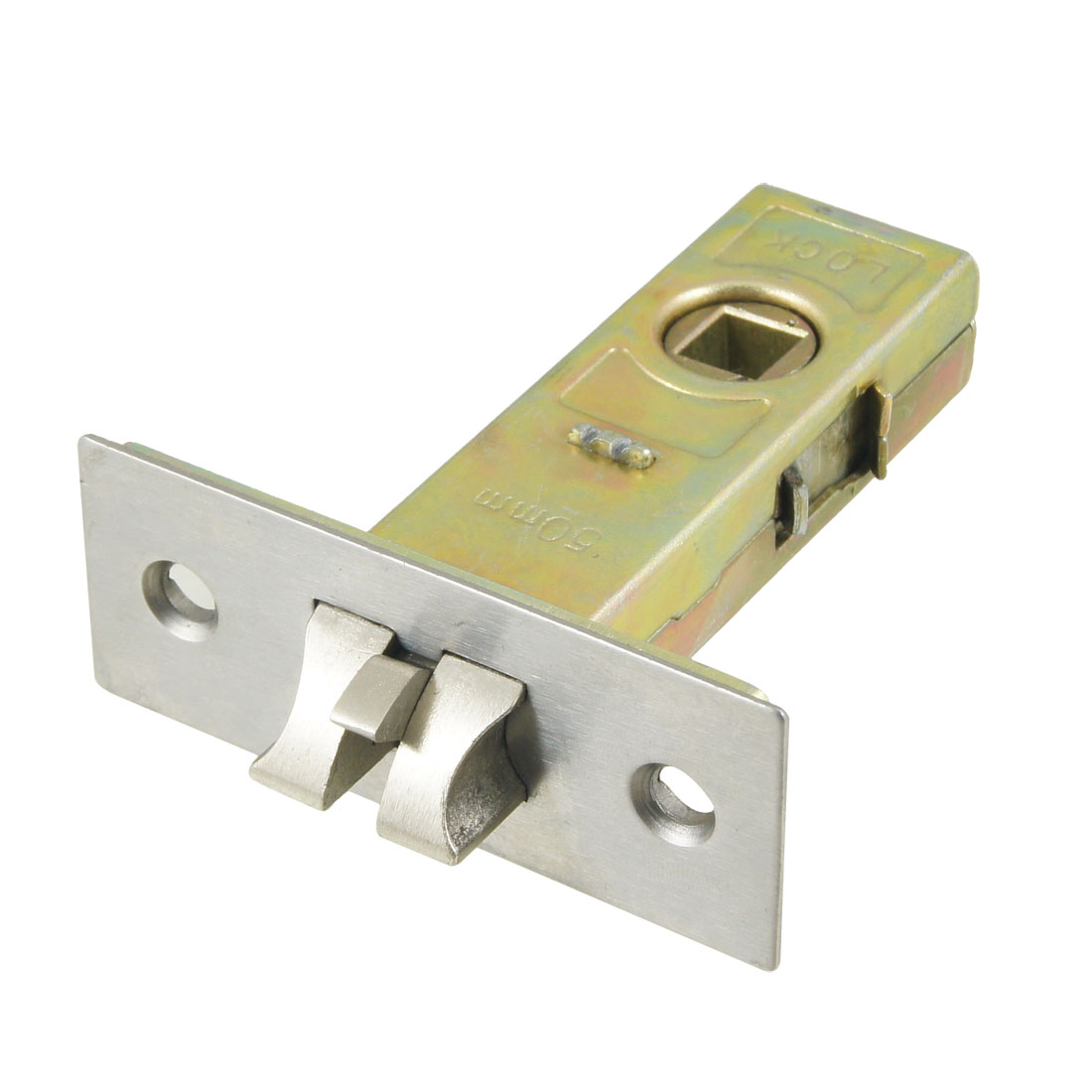 Bathroom Toilet 50mm Overlock Distance Metal Spring Loaded Door Lock Bolt