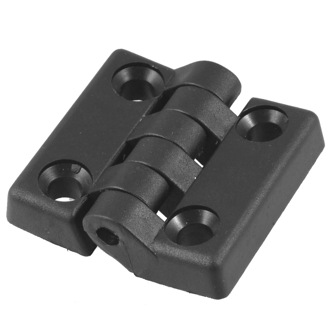 50mm x 48mm Countersunk Hole Plastic Cabinet Ball Bearing Hinge Black
