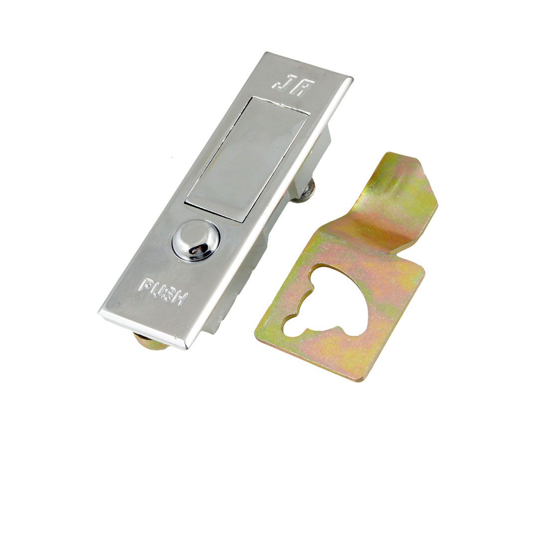"Rectangular 3.5"" Long Metal Plane Type Push Button Cabinet Lock"