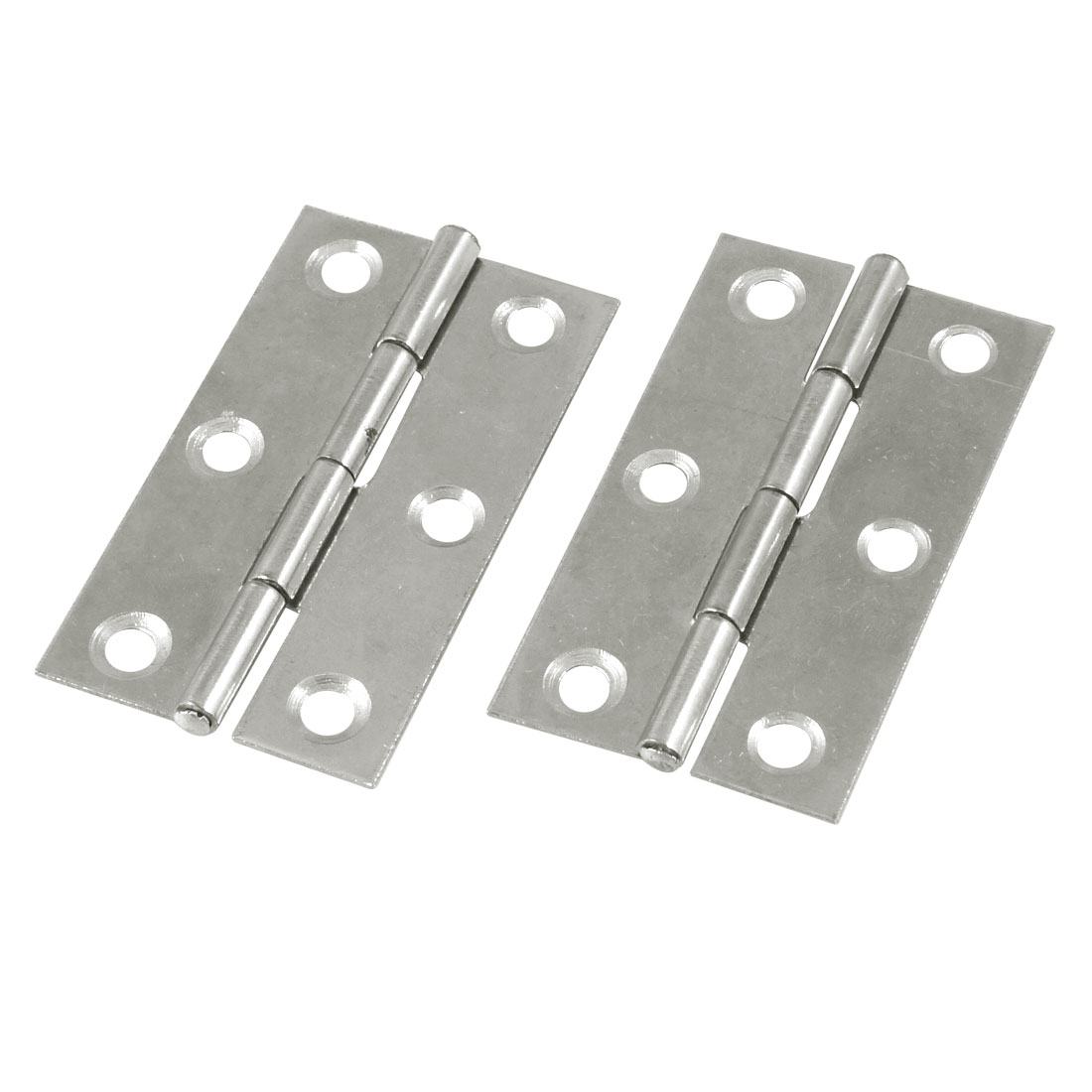 "2 Pcs Cabinet Drawer Door Stainless Steel Hinges 2.2"" Long"