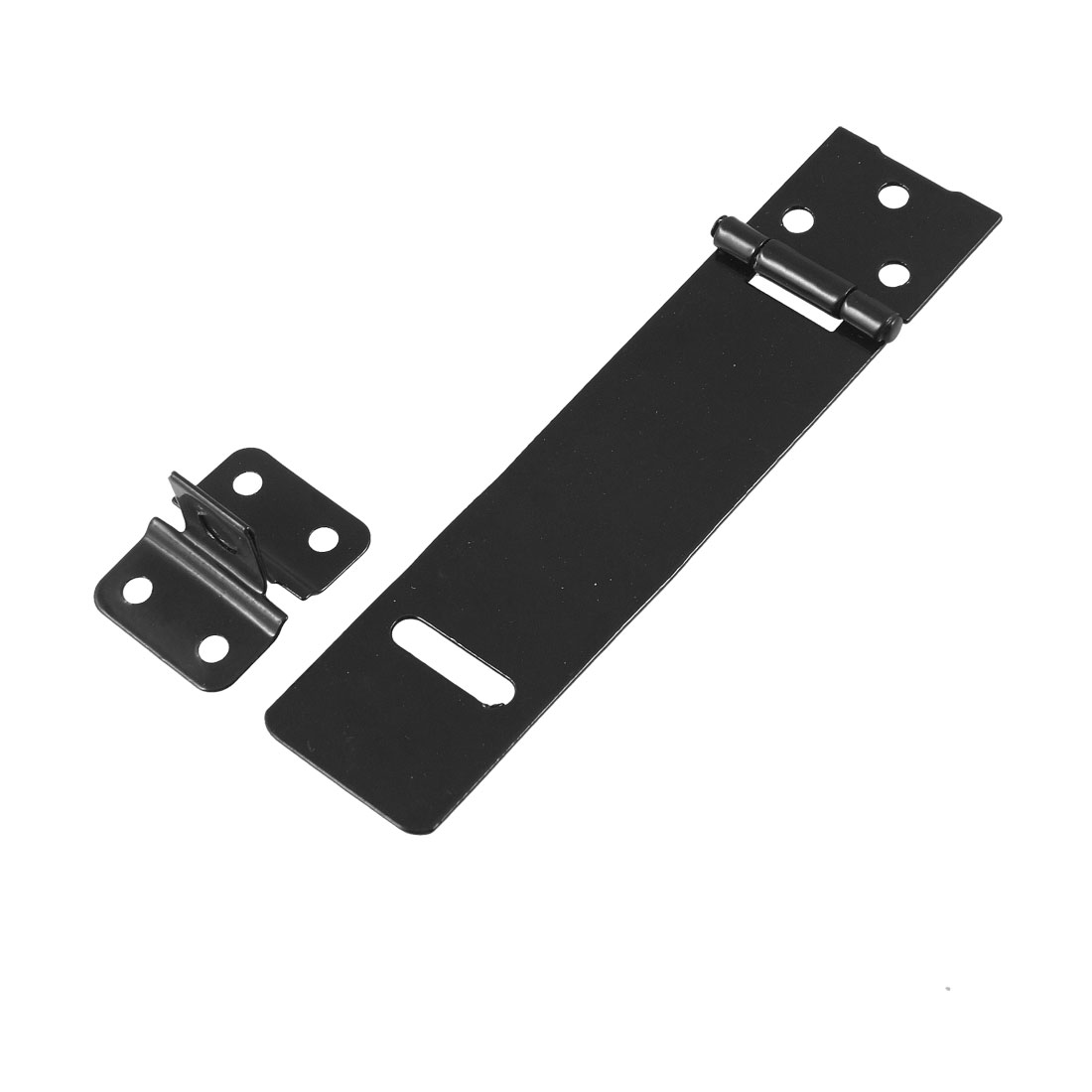 "Replacement Padlock Door Cabinet Mate Black 5.4"" Metal Hasp Staple"