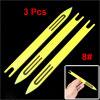 Plastic Fishing Net Repair Needle Shuttle Bobbin 8# Yellow 21.5 x 1.8 x 0.5cm 3 Pcs