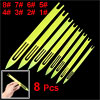 8 Pcs Yellow Plastic Fishing Line Repair Netting Needle Shuttles