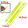 Fishermen Plastic Fishing Net Repair Netting Needle Shuttles Yellow 5# 5 Pcs