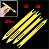 4pcs Plastic Fishing Net Repair Needle Shuttle Bobbin Fishermen Fish Tackle 7#8#