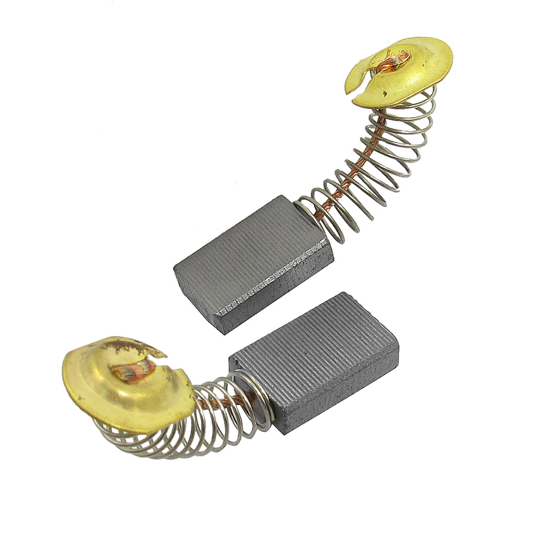 "2 Pcs Spring Type Motor Carbon Brushes 45/64"" x 7/16"" x 1/5"" for Makita 110 4100NH Matble Cutting Machine"