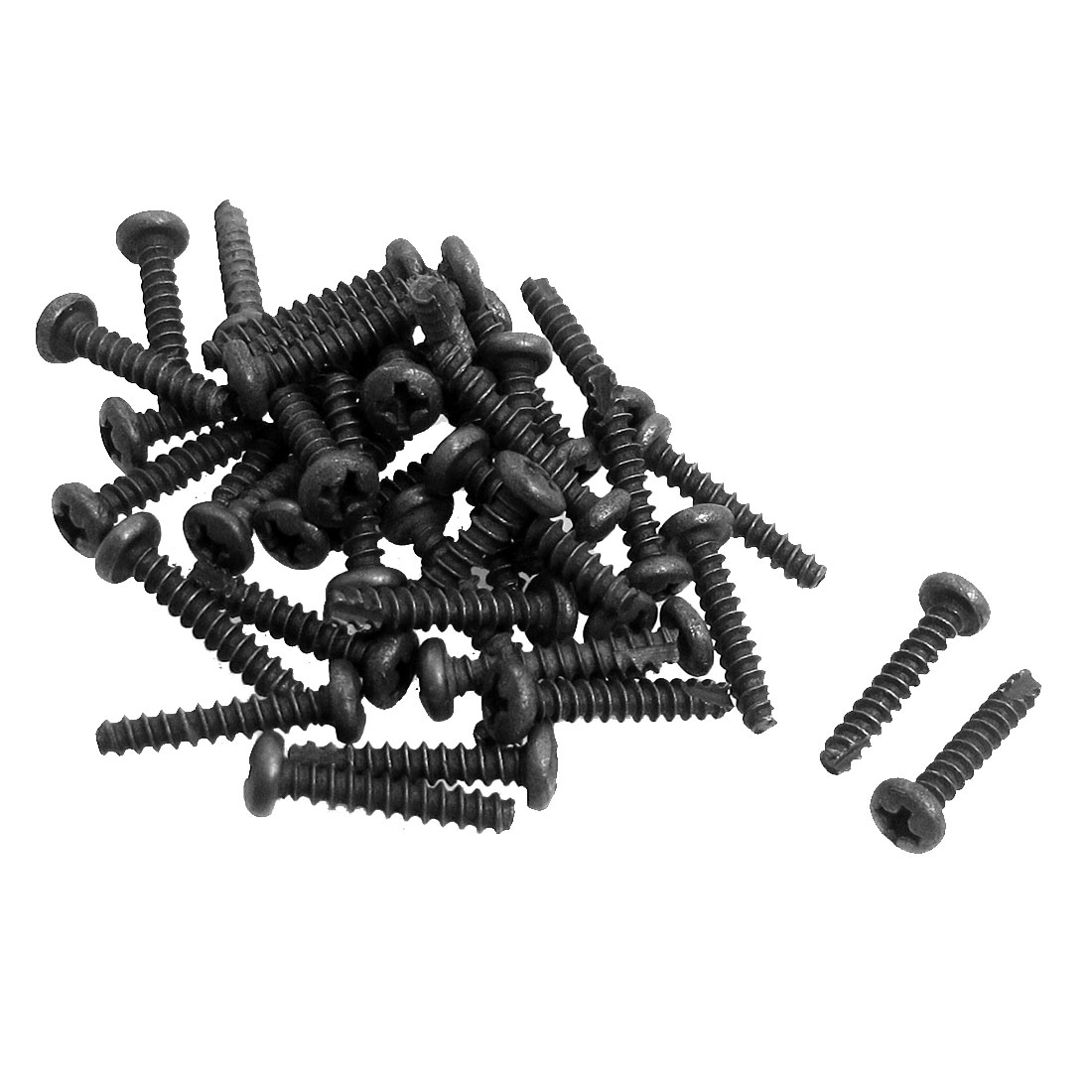 "40 Pcs Metal 1/8"" x 7/11"" Phillips Head Screw for Hitachi DS7DF Charger Screwdriver"