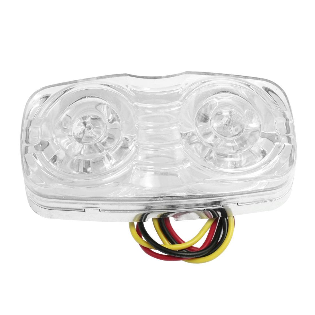 Thread Mount White 12 LED Car Trailer Bumper Side Marker Light Lamp