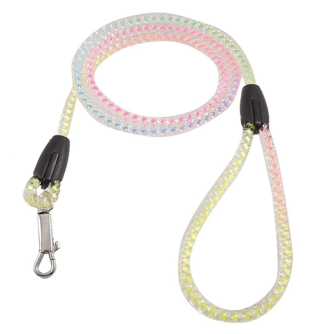 Plastic Crystal Twisted Rope Pet Doggie Dog Lead Leash Multicolor 1.15 Meters