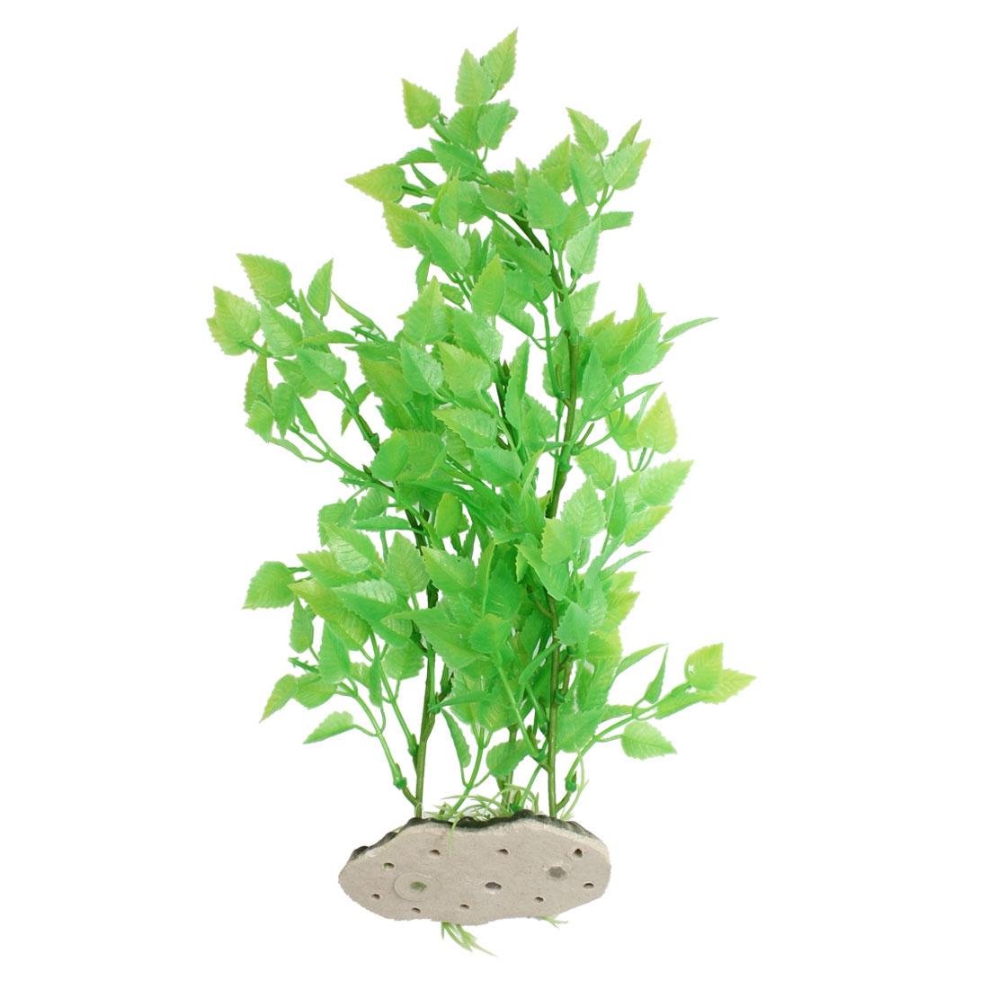 "12"" Height Fish Tank Fishbowl Decoration Green Plastic Leaf Aquatic Plant"
