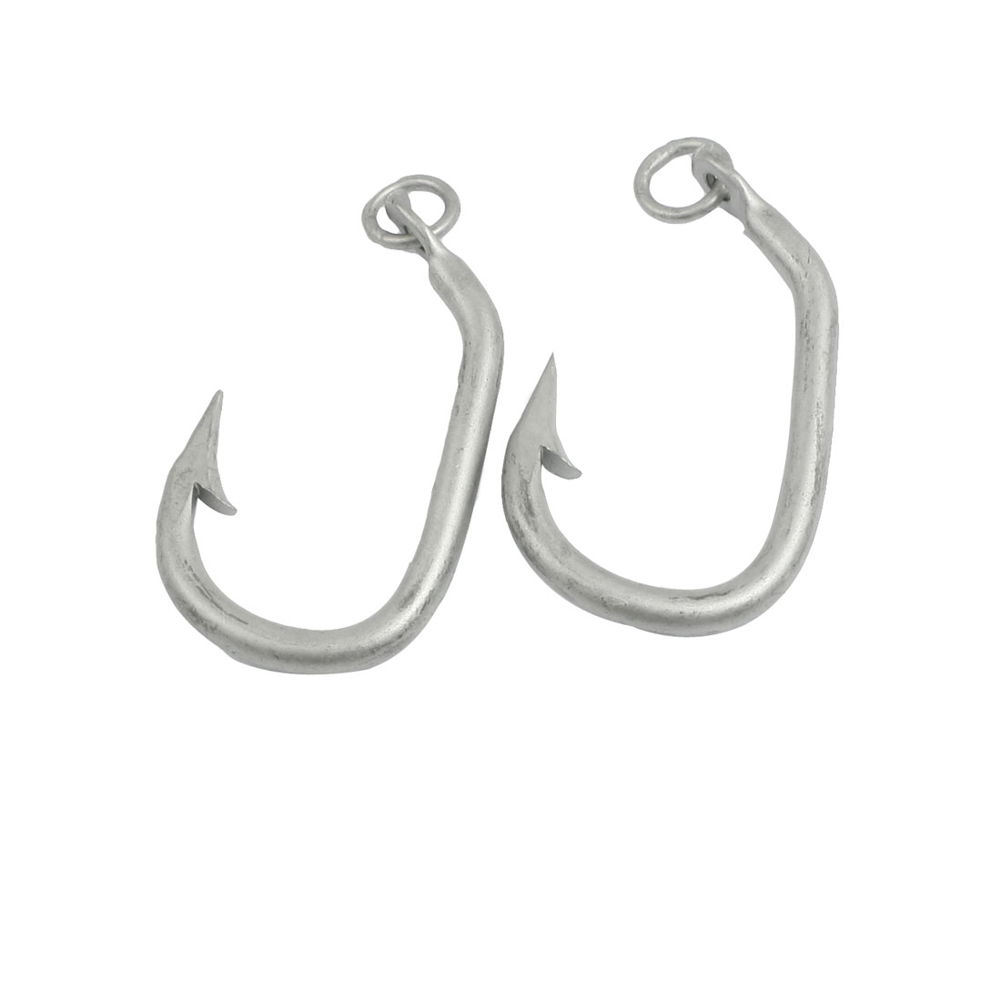 2 Pcs 4.2# Gray Eyeless Sharp Bait Barb Fishhook Fishing Tool
