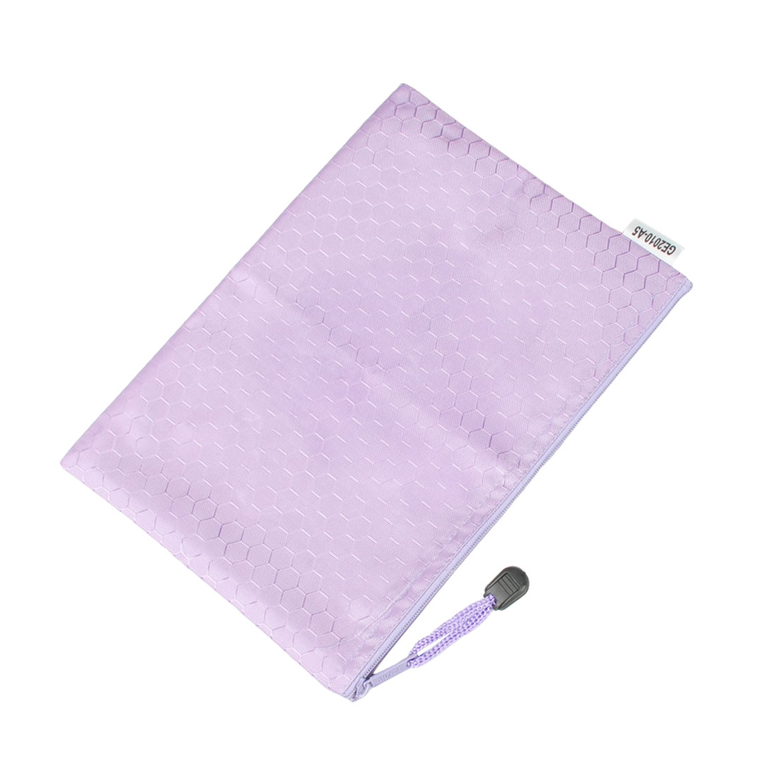 Hex Pattern Water Resistant A5 Paper Document File Folder Container Purple