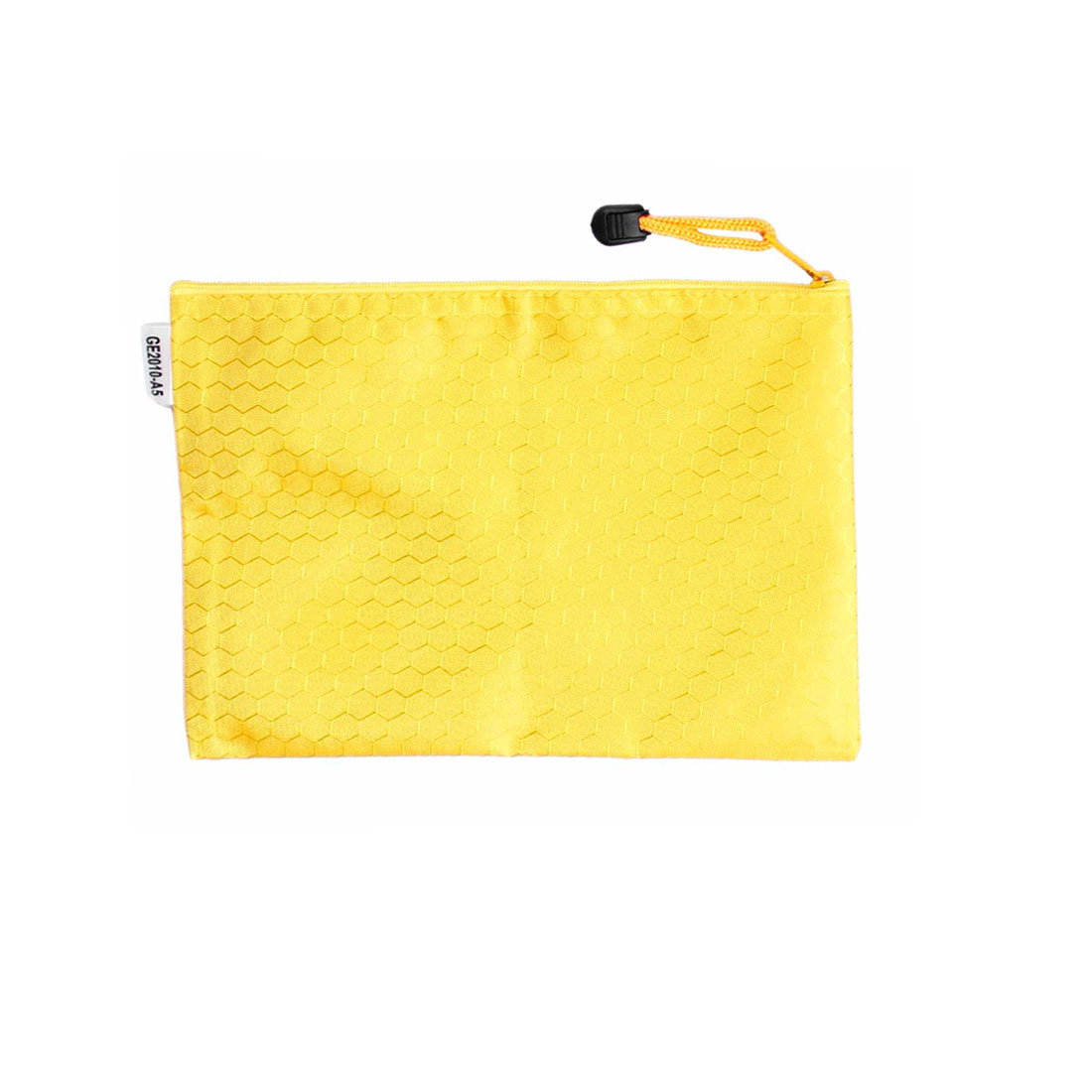 Nylon Sexangle Pattern A4 Paper Document Files Organizer Bag Yellow