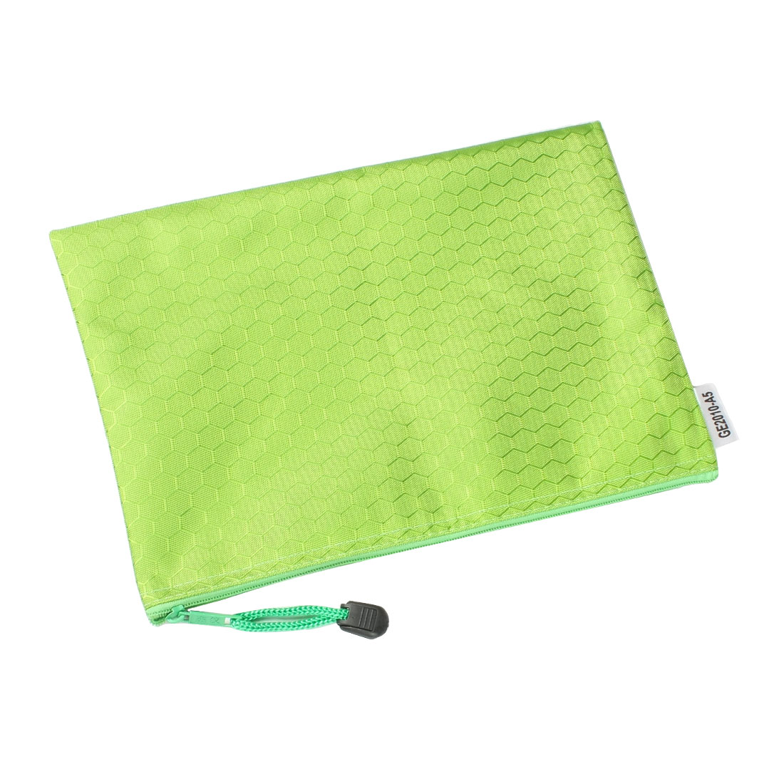 Hex Pattern Water Resistant A5 Paper Doucument File Pen Bag Folder Green