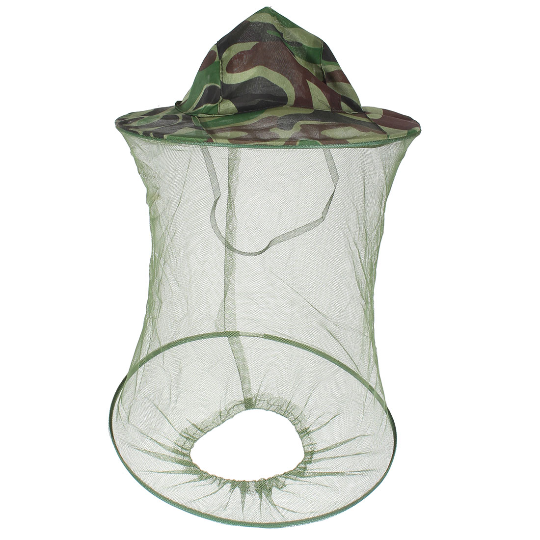 Mesh Camouflage Pattern 2 Layers Foldable Hat Cap for Fishing