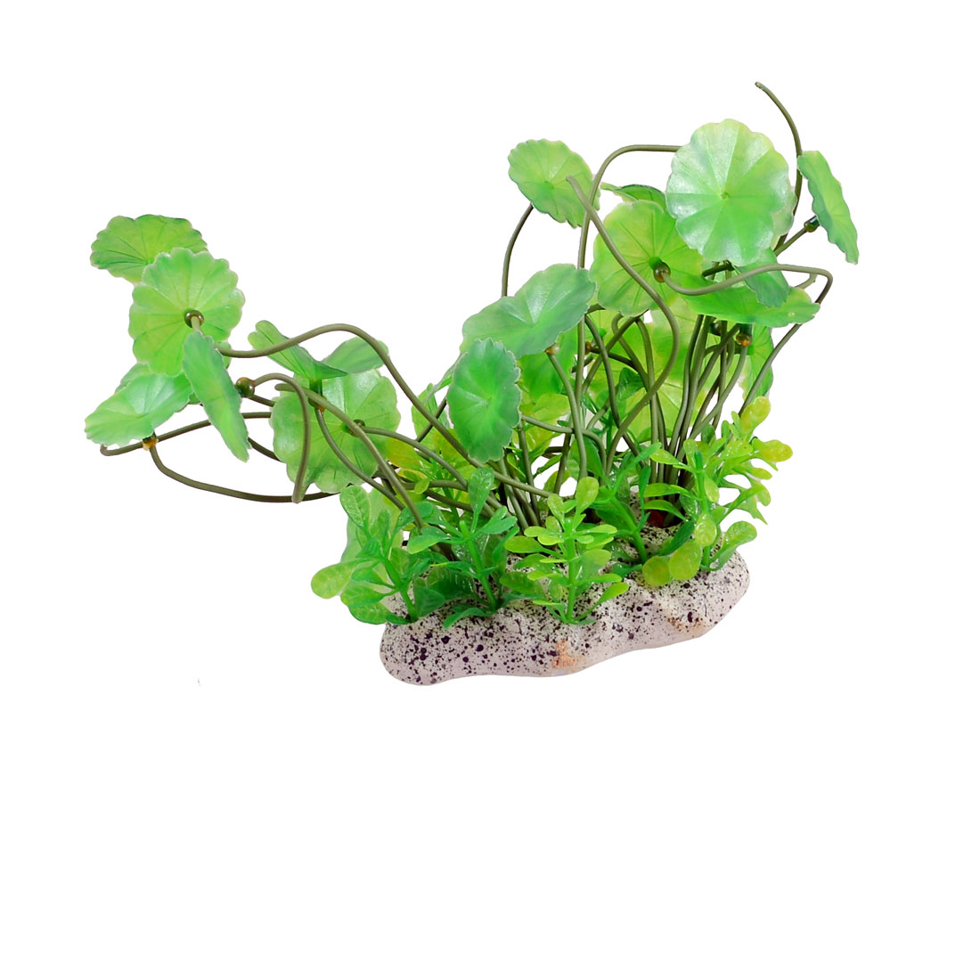 "Fish Tank Aquarium Ornament Plastic Green Grass Artificial Plant 5.5"" Height"