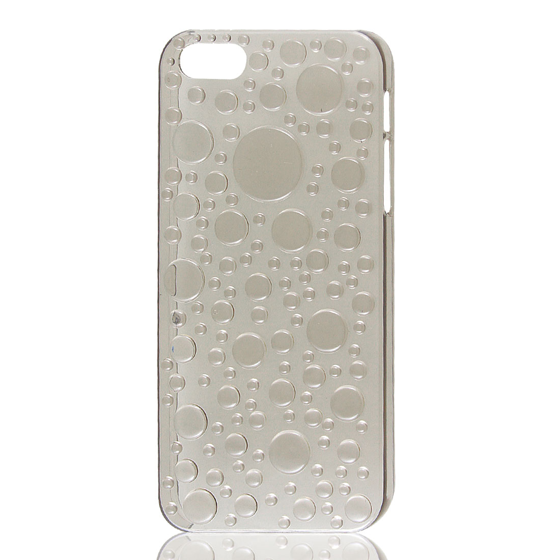 Clear Gray 3D Water Drop Raindrop Hard Back Case Cover for Apple iPhone 5 5G