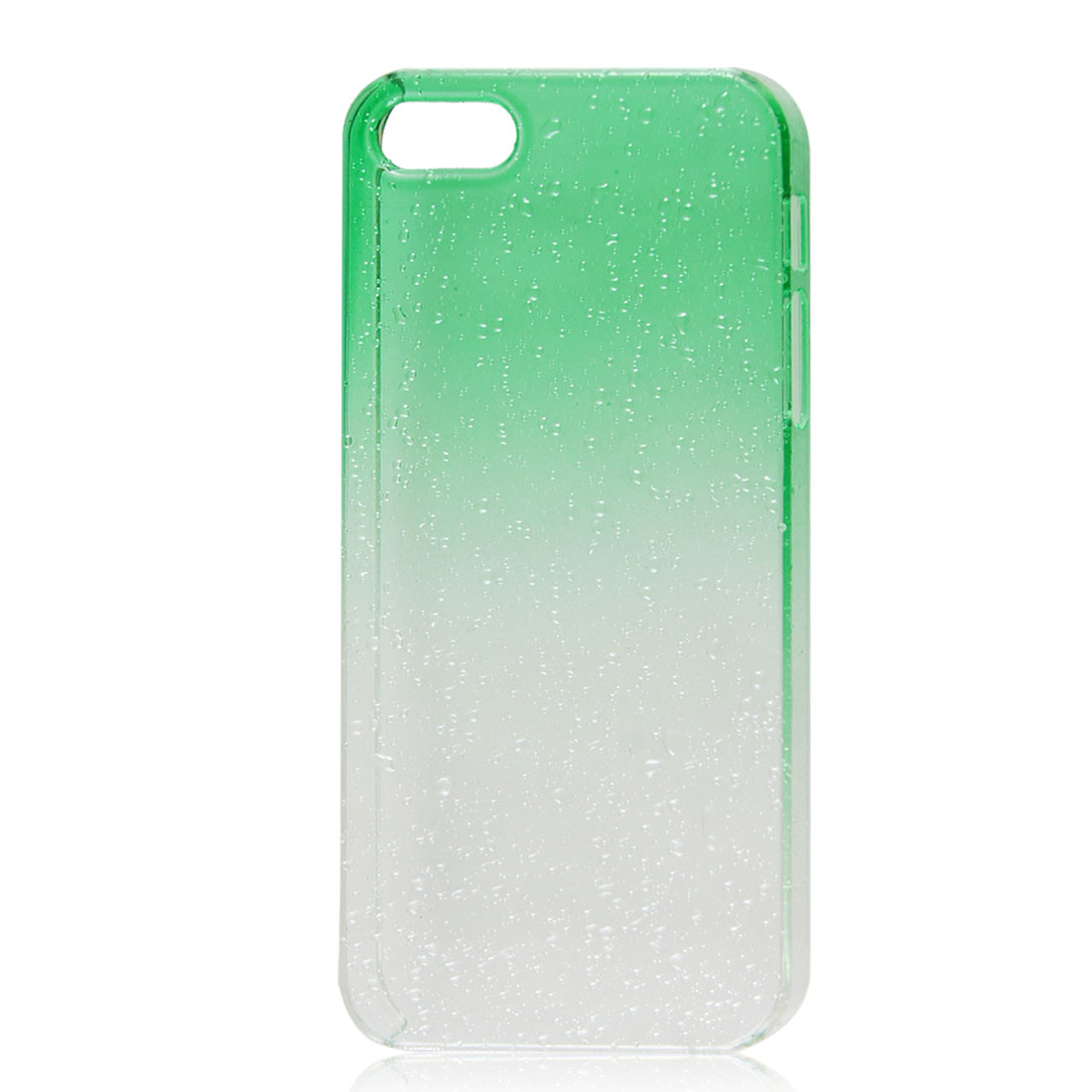 3D Waterdrop Raindrop Green Clear Gradient Hard Case Back Cover for iPhone 5 5G