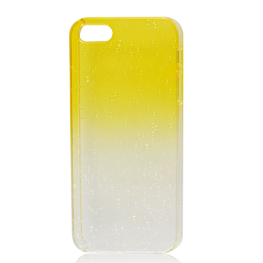 3D Waterdrop Raindrop Yellow Clear Gradient Hard Case Back Cover for iPhone 5 5G