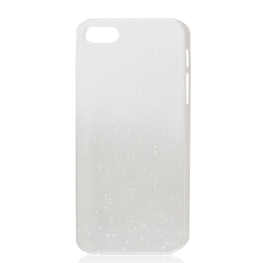 Gradient White Clear 3D Raindrop Hard Back Case Cover for iPhone 5 5G