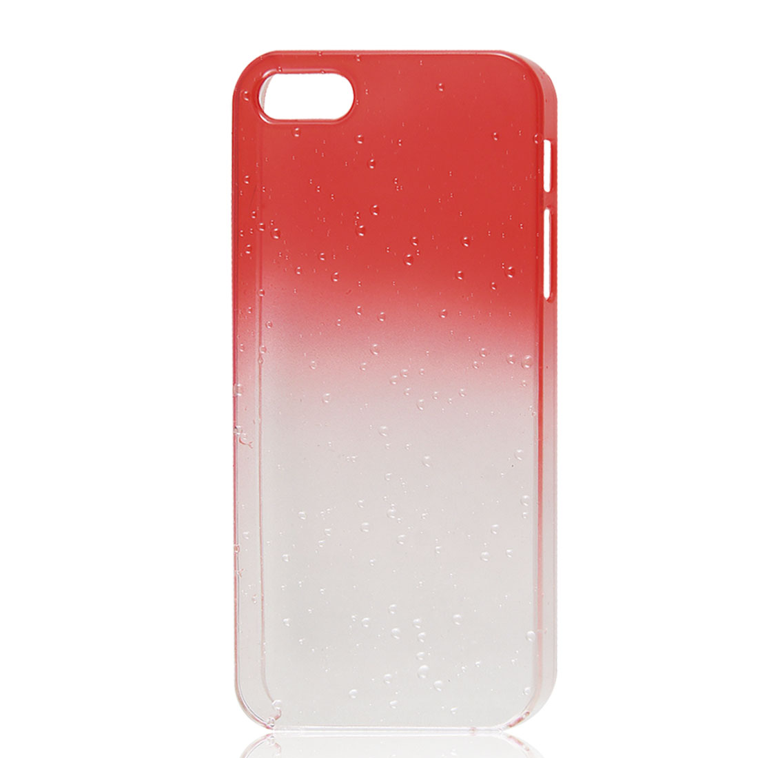 Gradient Red Clear 3D Water Drop Hard Back Case Cover for iPhone 5 5G
