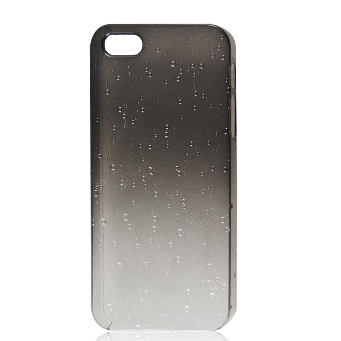 3D Raindrop Water Drop Hard Back Cover Case Gray Clear for Apple iPhone 5 5G