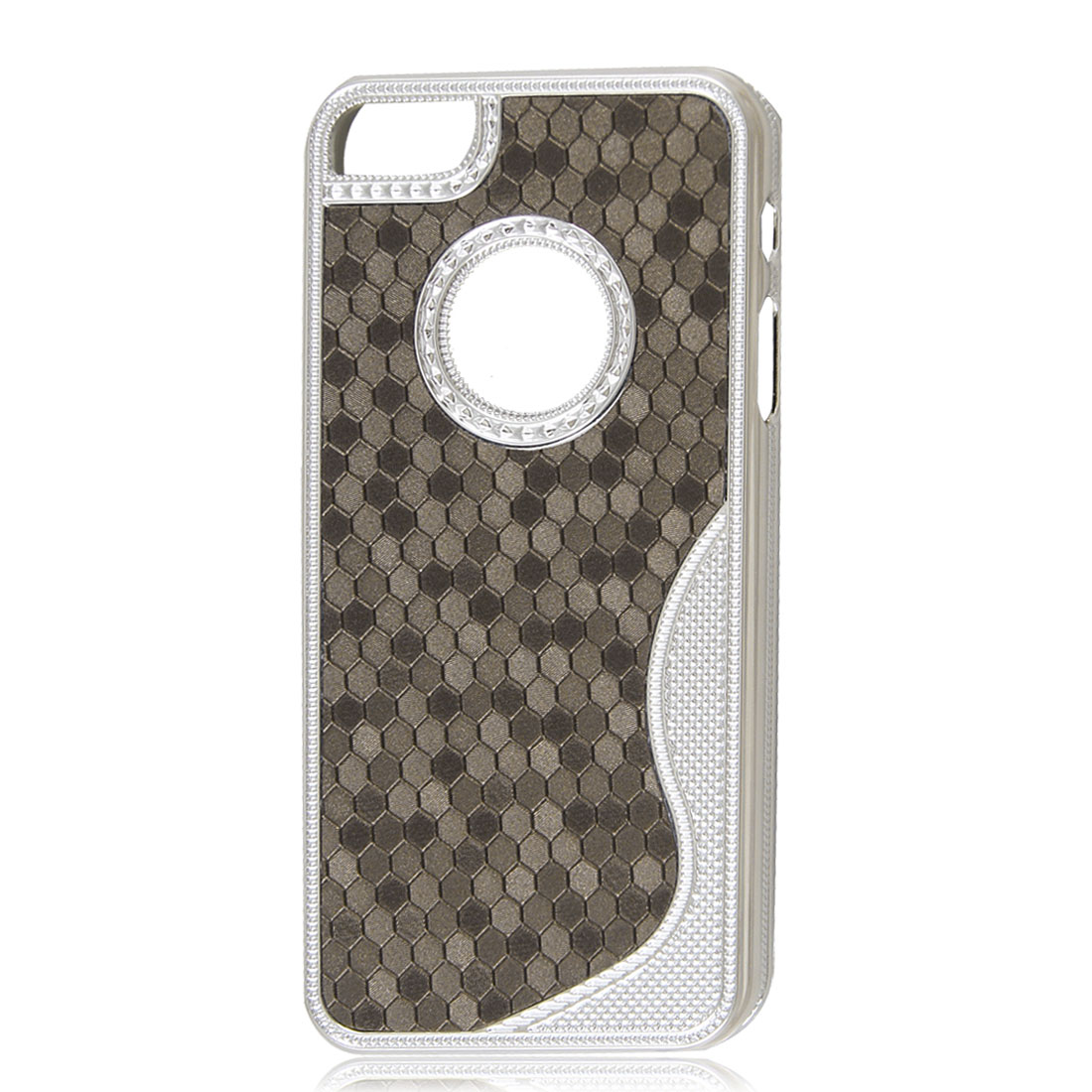Coffee Color S-line Hexagon Hard Back Case Cover for iPhone 5 5G 5th Gen