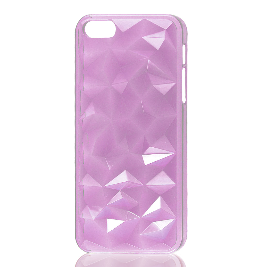 3D Water Cube Clear Fuchsia Hard Back Case Cover Protector for iPhone 5 5G