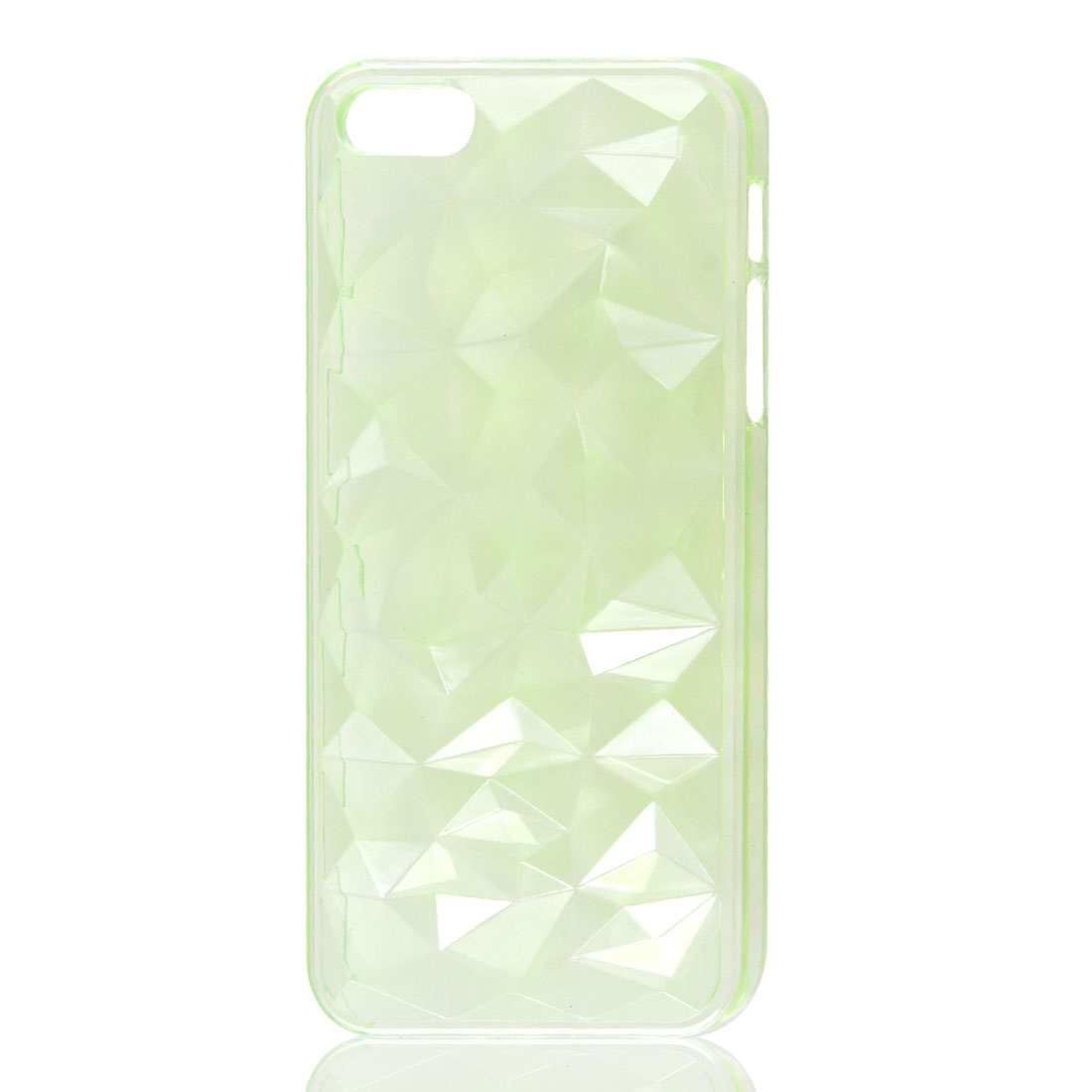 3D Water Cube Hard Back Case Cover Shell Light Green for iPhone 5 5G 5th Gen
