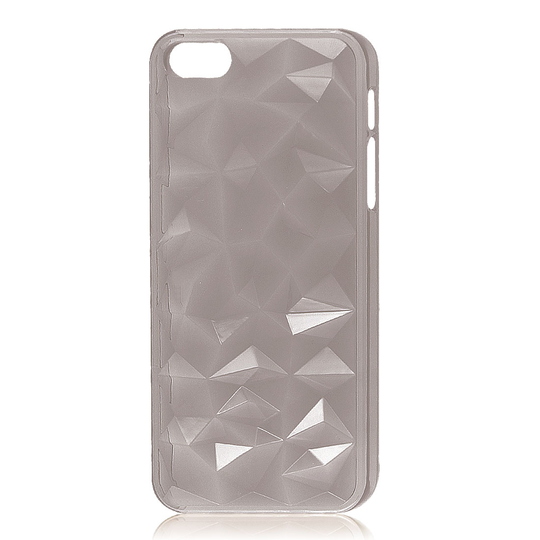 3D Water Cube Clear Gray Hard Back Case Cover Protector for iPhone 5 5G