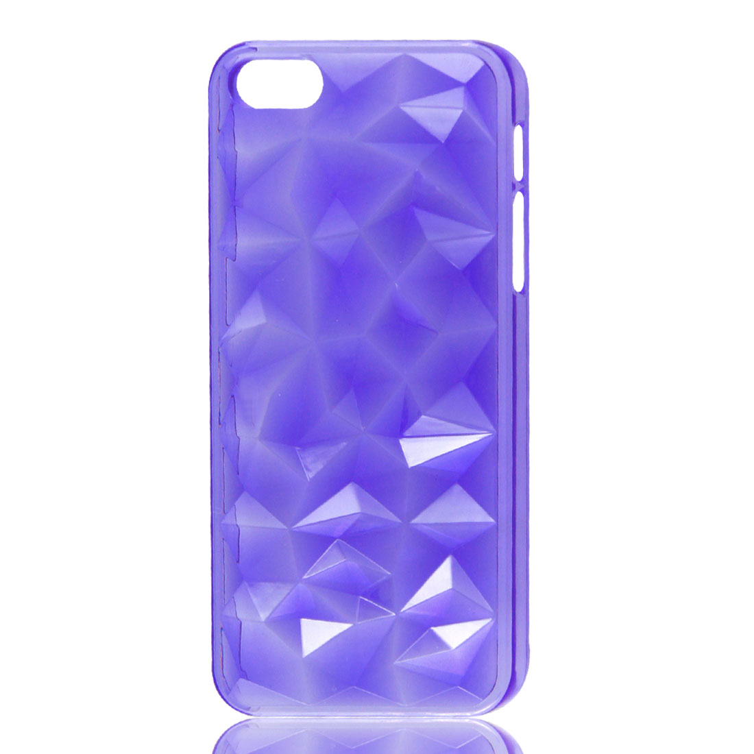 3D Water Cube Hard Back Case Cover Shell Clear Purple for iPhone 5 5G